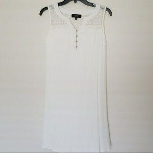 Dresses & Skirts - ☕️☕️NAÏF White Lace Tank Dress☕️☕️